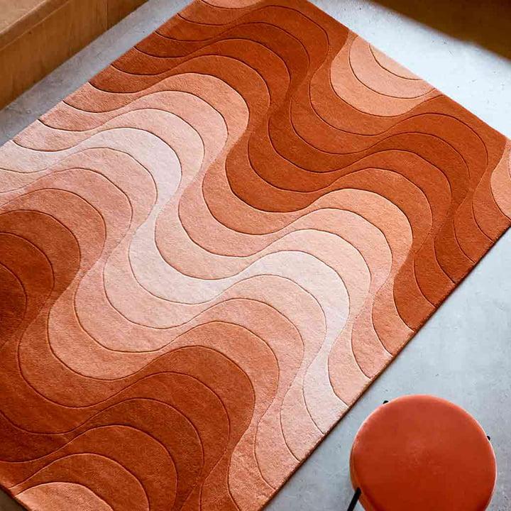 Der Verpan - Wave Teppich mit Hocker