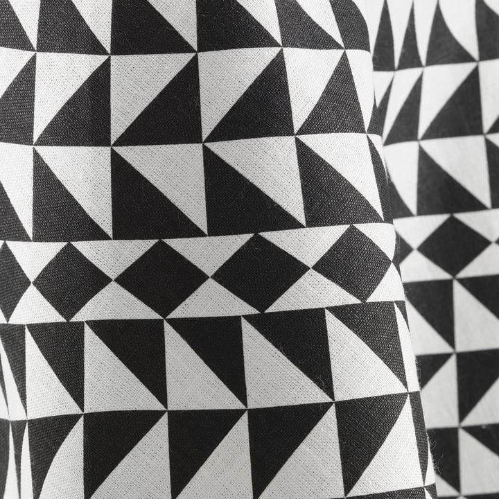 Die Vitra - Tablecloth Ø 130 cm, Geometric / schwarz in der Nahansicht