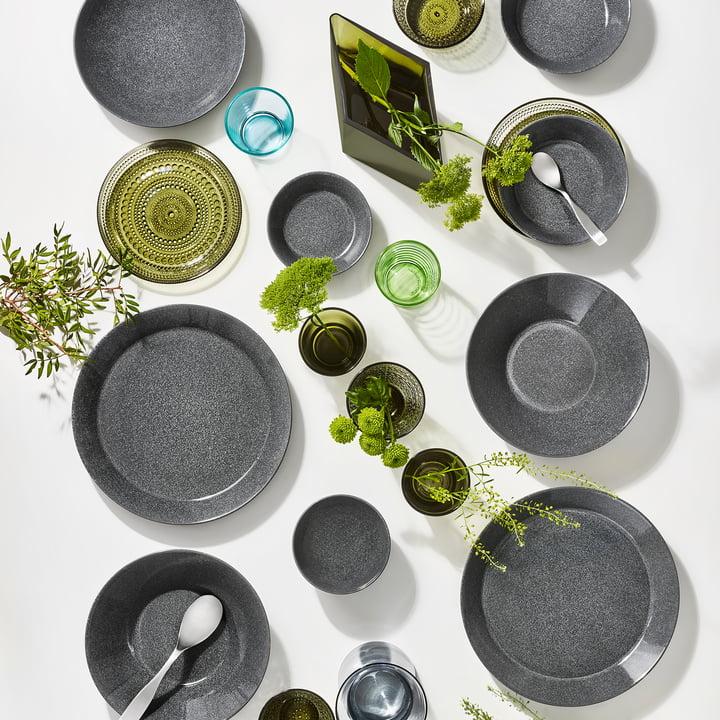 Teema Geschirr von Iittala in gesprenkelt Grau