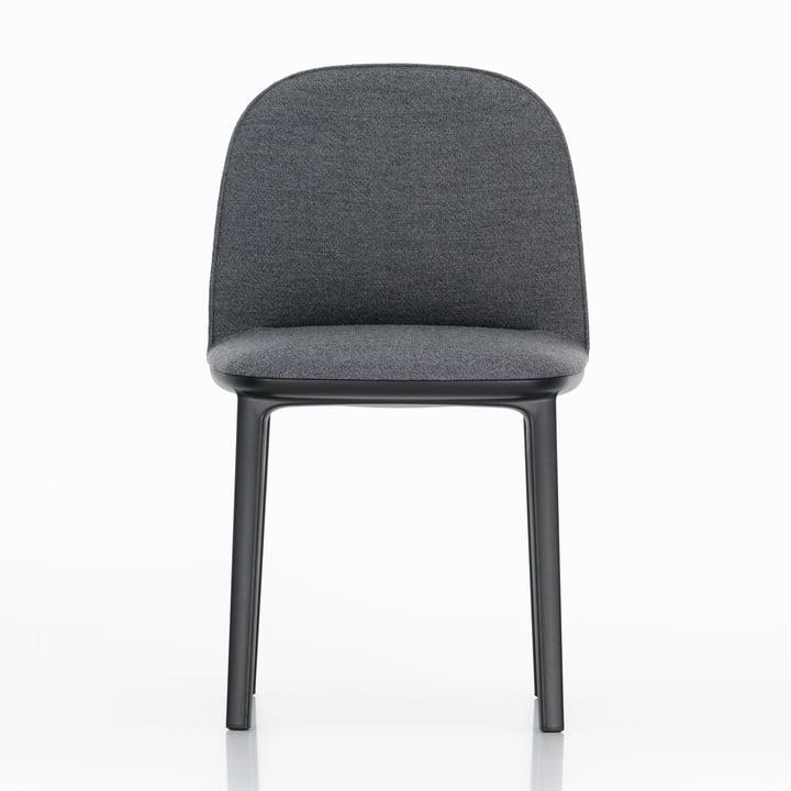Der Vitra - Softshell Side Chair, Vierbeinfuß basic dark, Dumet anthrazit melange