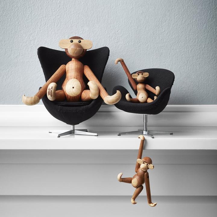 Der Fritz Hansen - Miniatur Ei Sessel und Schwan Sessel