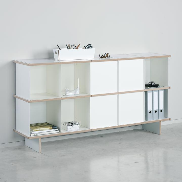 Das Konstantin Slawinski - YU Sideboard Set 5 x 2, MDF weiß / weiß im Büro