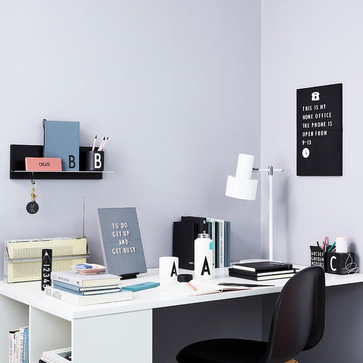 Nachrichtentafel mit Zubehör von Design Letters