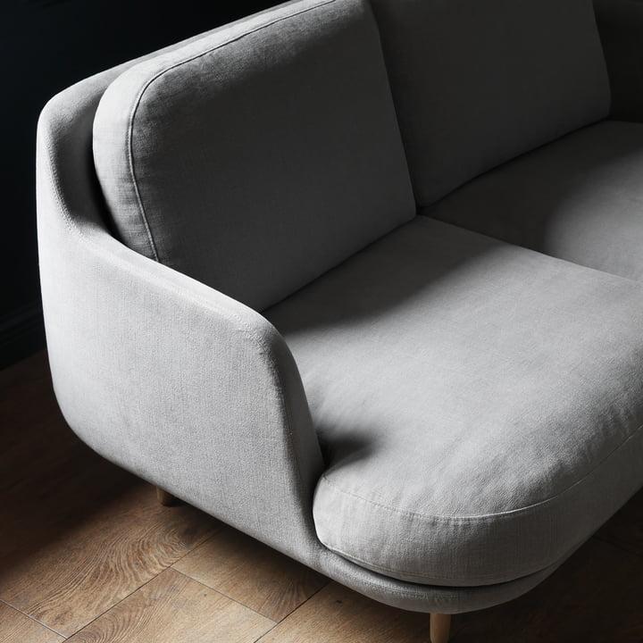 Das Fritz Hansen - Lune Sofa - 2 Sitzer - grau