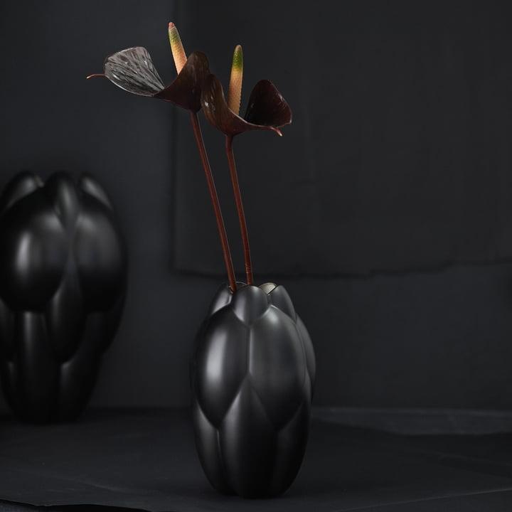 Core Vase von Rosenthal in Schwarz