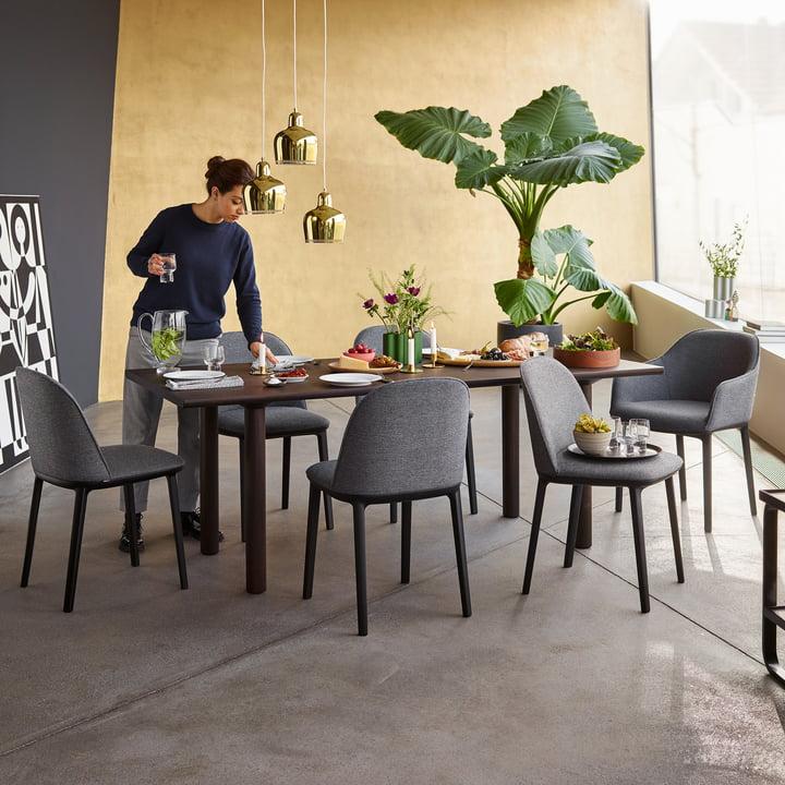 Der Vitra - Softshell Side Chair, basic dark, sierragrau / nero (Plano 74)