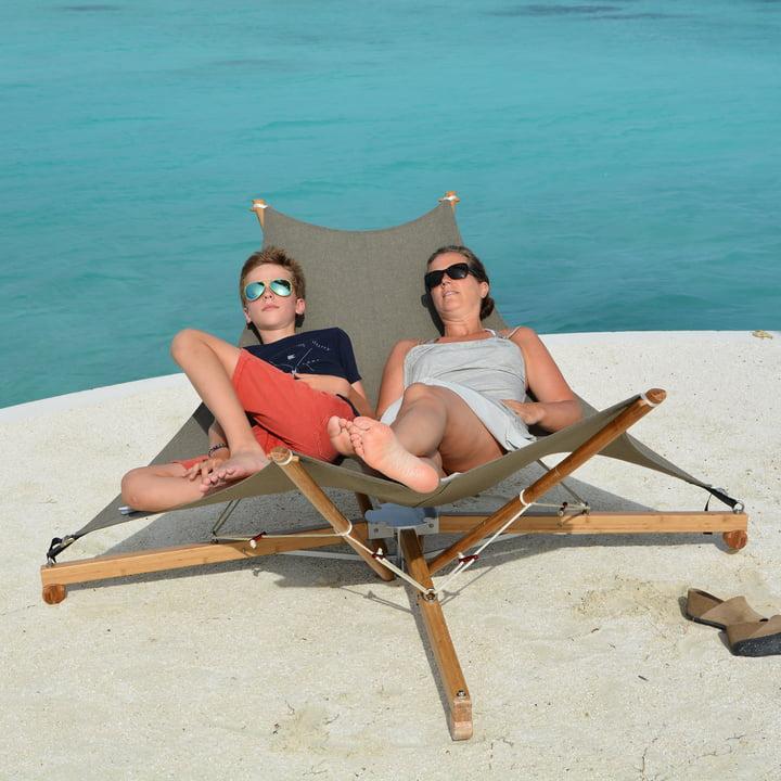 Große Sonnenliege für 2 Personen - Kajito