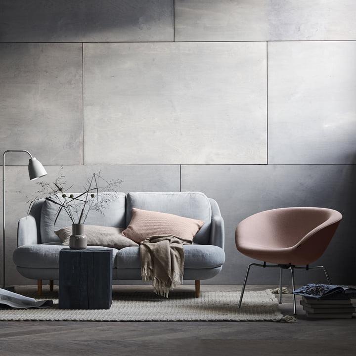 Fritz Hansen - Pot Sessel und Lune Sofa