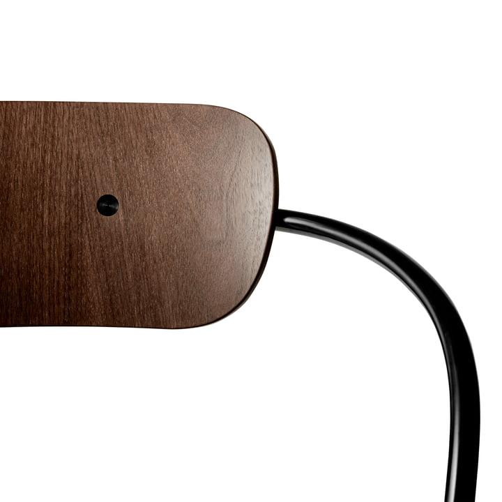 Pavilion Stuhl von &Tradition mit Rahmen Schwarz / Walnuss lackiert