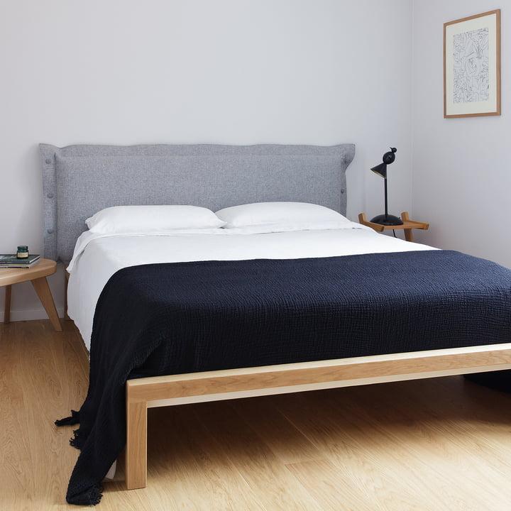 Pure Bett mit Polsterkopfteil von Hans Hansen