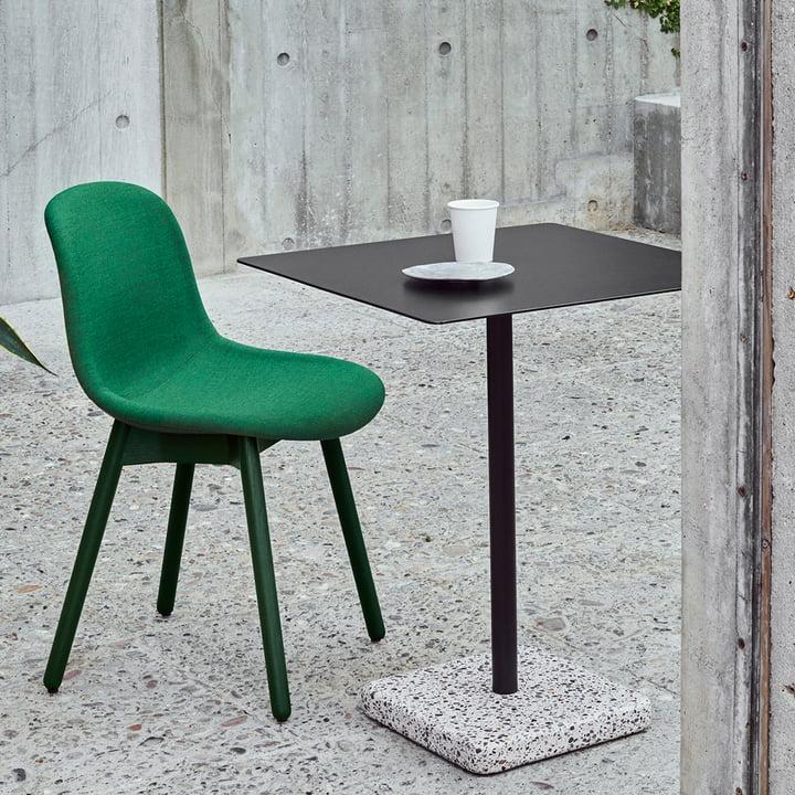 Hay - Terrazzo Tisch quadratisch, schwarz / grau