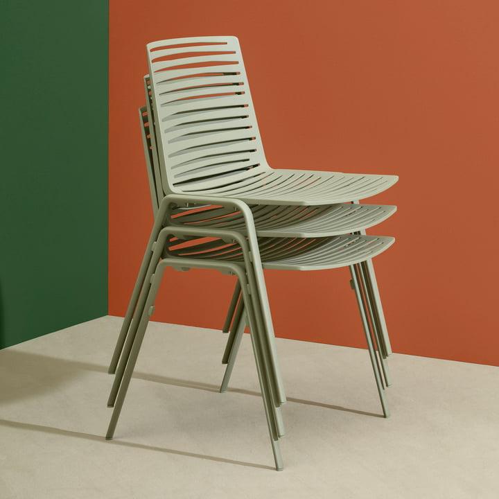 Zebra Stuhl von Fast in Teegrün