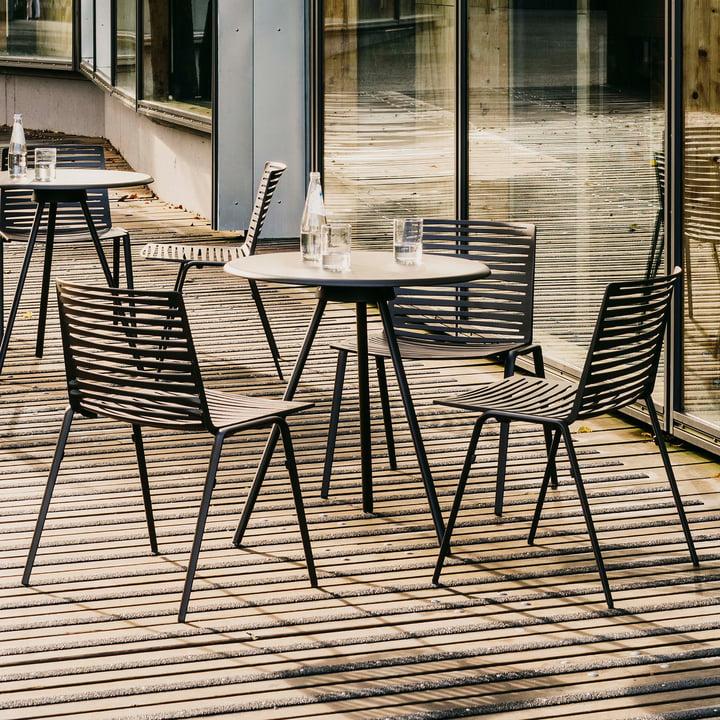 Zebra Stuhl von Fast auf der Terrasse