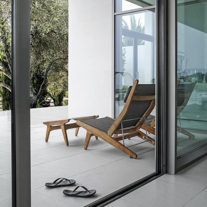Die Gloster - Bay Serie - Lounge Chair mit Ottoman