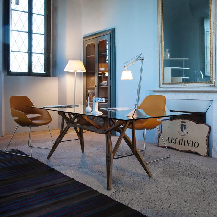 Zanotta - Reale Tisch 80 x 160 cm, Eiche natur