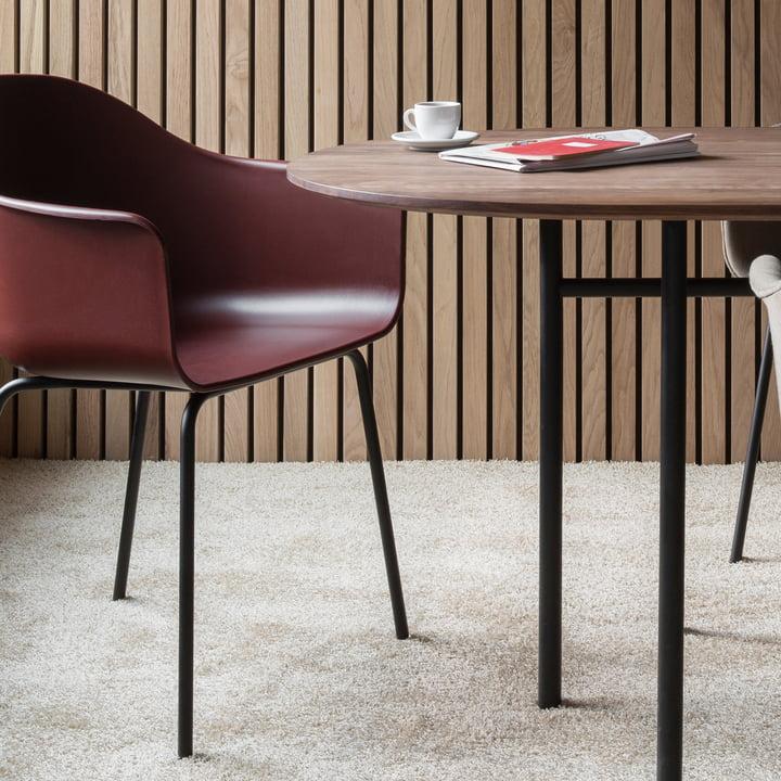Menu - Harbour Chair (Stahl), schwarz / burned red
