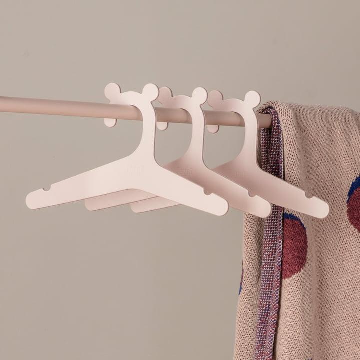 Die ferm Living - Kinder Kleiderbügel in hellrosa