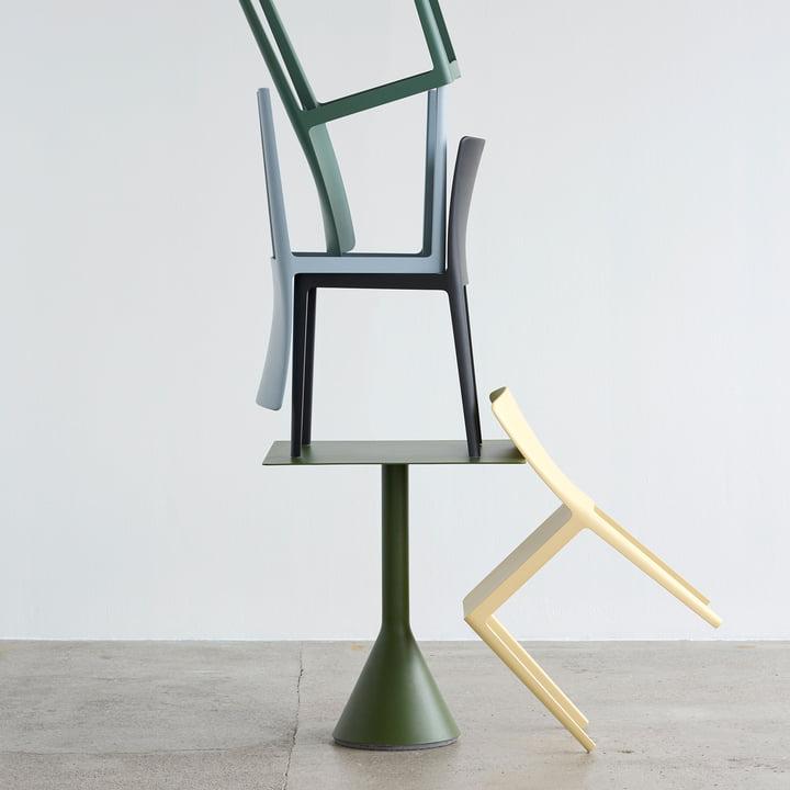 Der Hay - Élémentaire Chair mit Palissade Bistrotisch