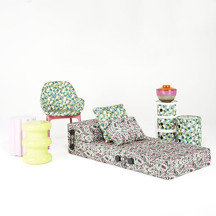 Componibili 4987, Clap Stuhl und Trix Klappsofa von Kartell