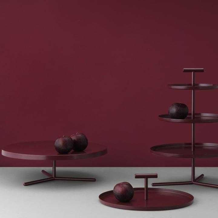 Glaze Kuchenplatte, Etagere und Tablett von Normann Copenhagen
