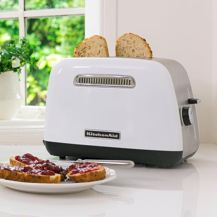 KitchenAid - Toaster Classic 5KMT2115, 2 Scheiben, weiß