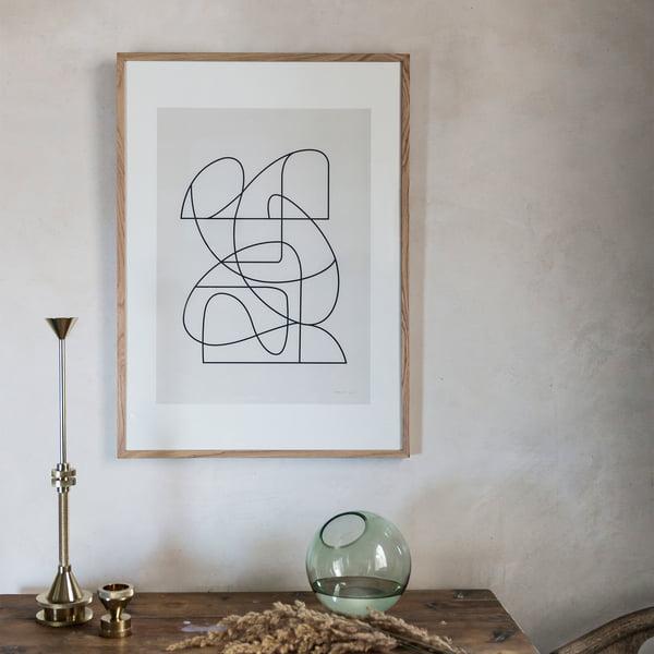 Minimalistisches Linien-Poster im Skandi-Design