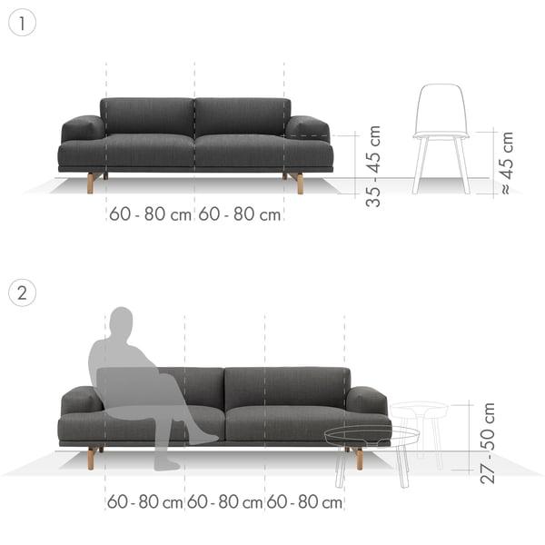 Sofa Grafik 1 - 2-Sitzer und 3-Sitzer