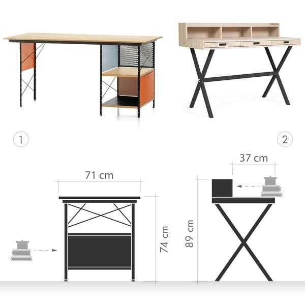 Schreibtisch Grafik 1 - Schreibtisch vs. Sekretär