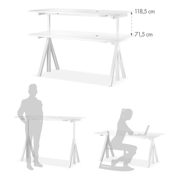 Schreibtisch Grafik 4 - höhenverstellbar
