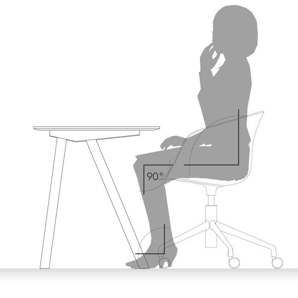 Schreibtisch Grafik 7 - richtig sitzen
