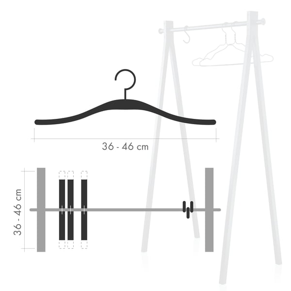 Garderobenständer Haken vs. Bügel